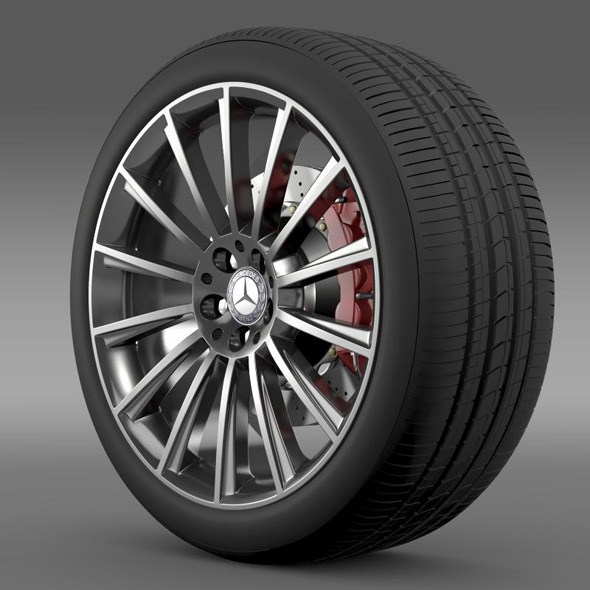 3DOcean AMG Mercedes Benz S 350 wheel 11237308