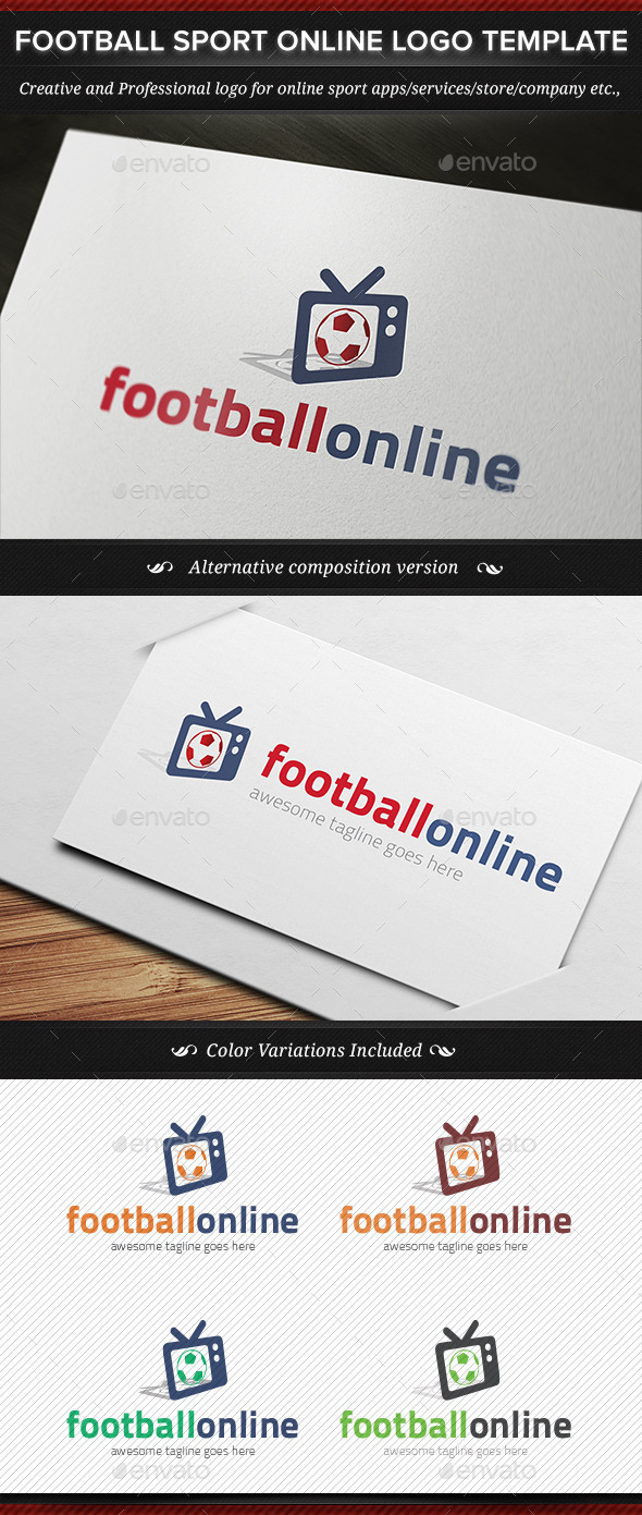GraphicRiver Football Sport Online Logo Template 11237538