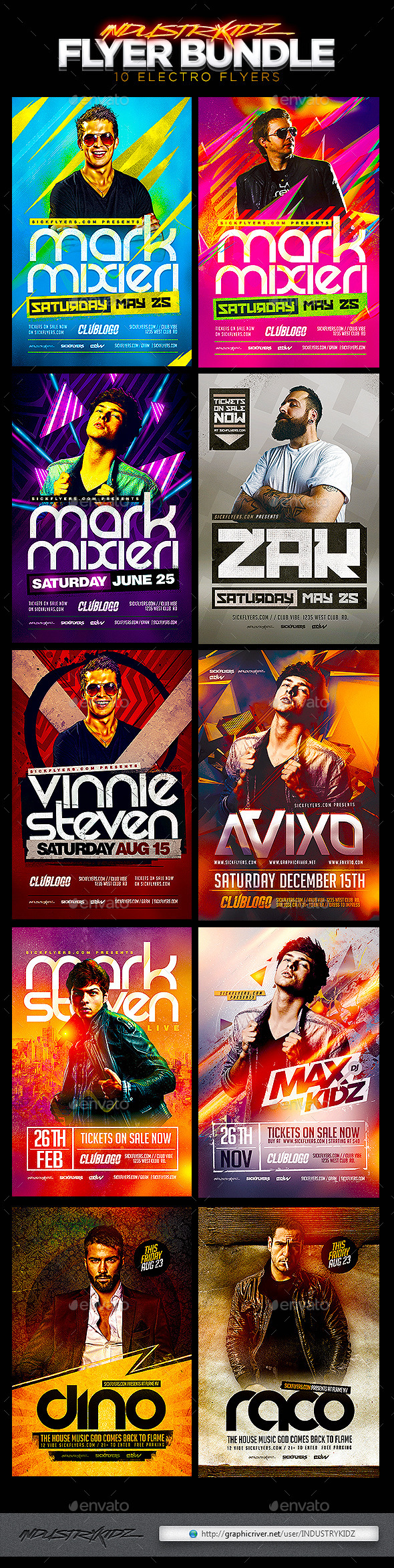 GraphicRiver Electro Flyer Bundle 11237540