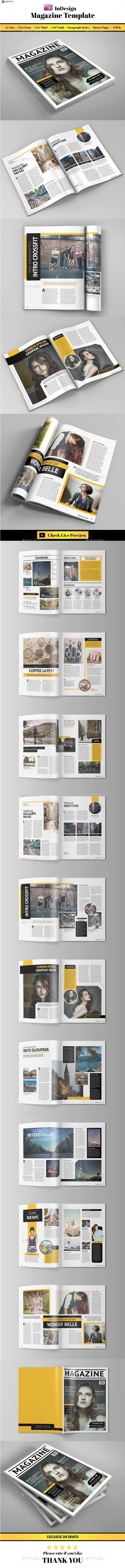 GraphicRiver InDesign Magazine Template 11208890