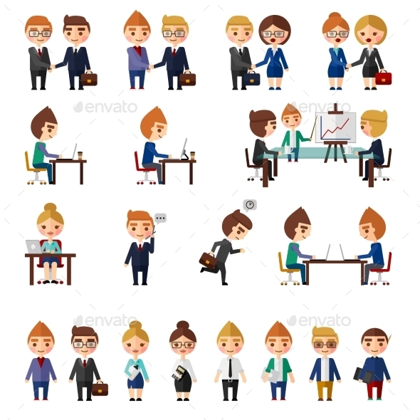 GraphicRiver Business Office People Set 11238082