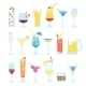 Set Of Different Alcoholic Cocktails. - GraphicRiver Item for Sale
