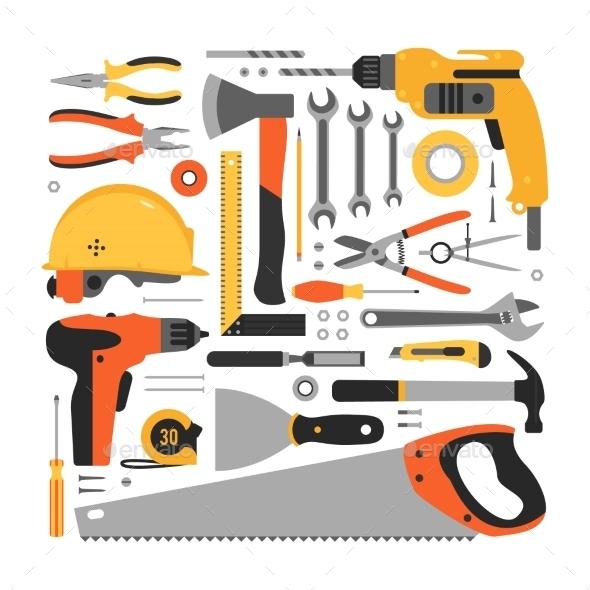 GraphicRiver Big Set Of Construction Tools 11238096
