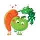 Carrots In Love With The Apple. - GraphicRiver Item for Sale