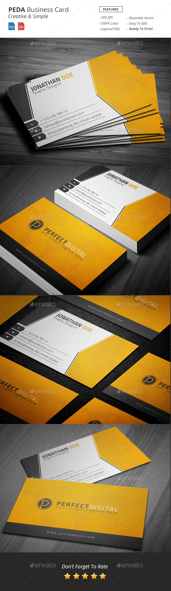 GraphicRiver Peda Creative Business Card 11238316