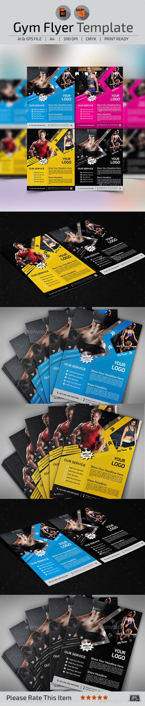 GraphicRiver Fitness Gym Flyer Template 11238584