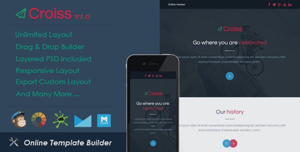 ThemeForest Croiss Responsive Email & Drag & Drop Builder 11238659