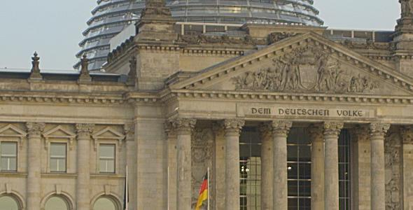 VideoHive German Federal Parliament with Hedge Autumn 11096239
