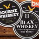 9 Whiskey Brands Label - GraphicRiver Item for Sale