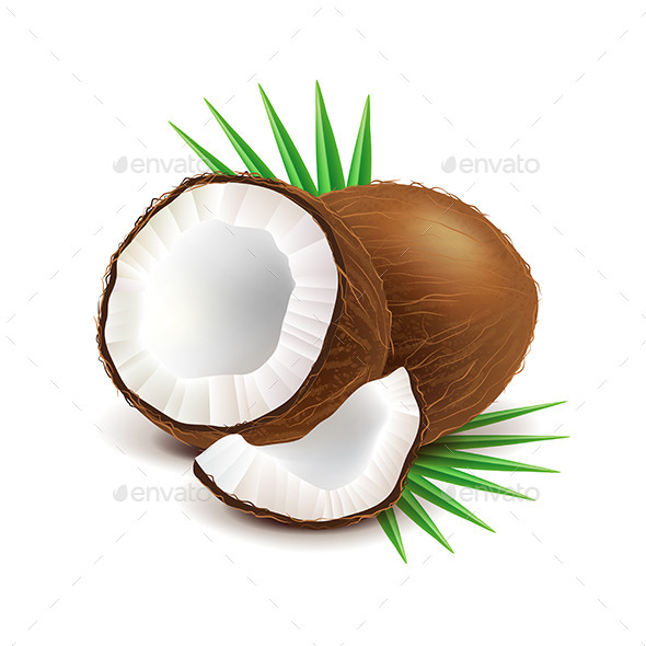 GraphicRiver Coconut and Slice 11238840
