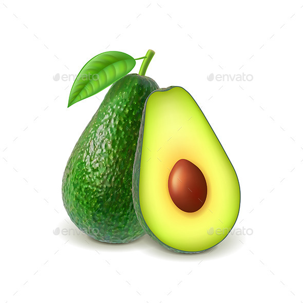 GraphicRiver Avocado and Slice 11238845
