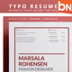 Typo Resume 2 - GraphicRiver Item for Sale