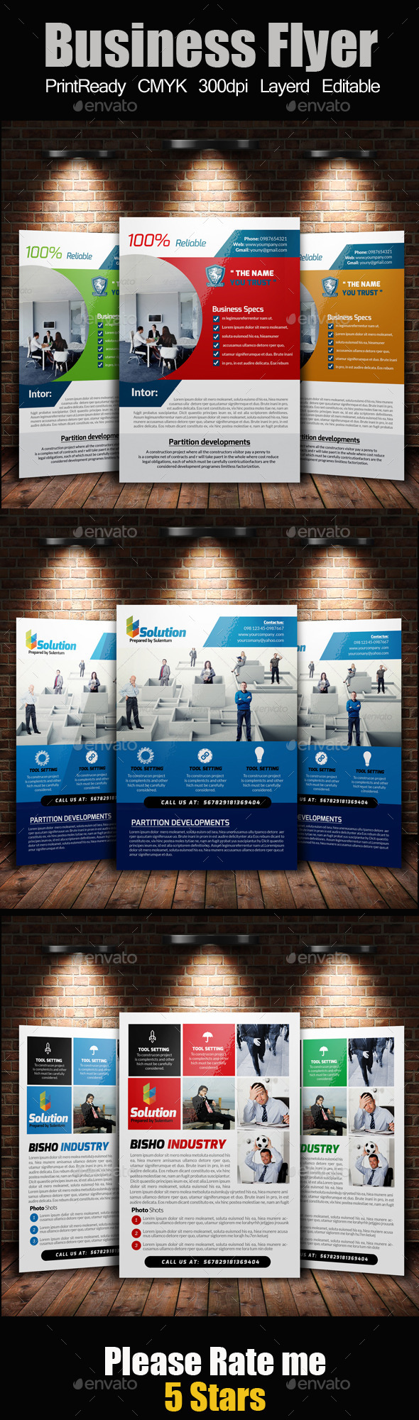 GraphicRiver A4 Business Flyer Template Bundle 11239137