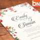 Rustic Floral Wedding Invitations - GraphicRiver Item for Sale