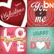 Retro Valentines Typography Cards - GraphicRiver Item for Sale