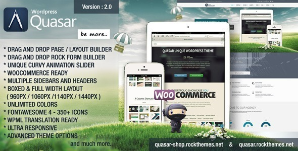 Quasar - Wordpress Theme with Animation Builder - Business Corporate