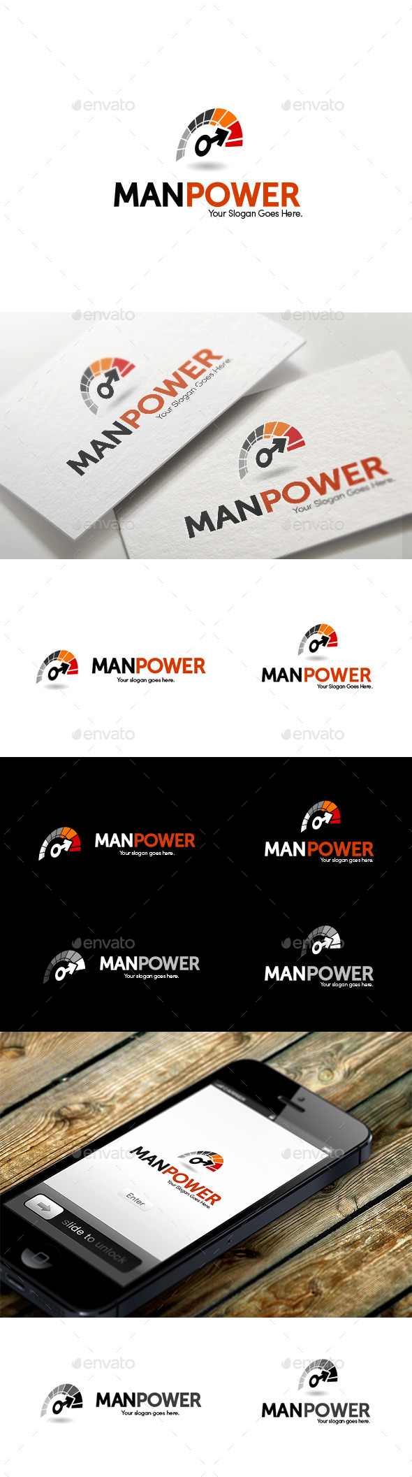 GraphicRiver Man Power Logo 11239311