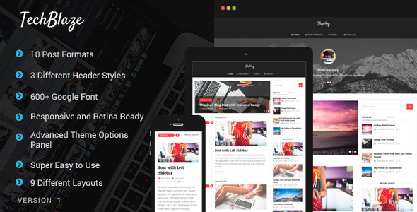 TechBlaze - Professional WordPress Blog Theme