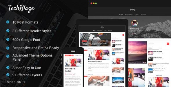 TechBlaze - Professional WordPress Blog Theme