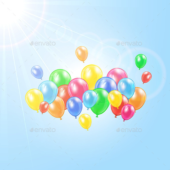 GraphicRiver Balloons in the Sky 11239448