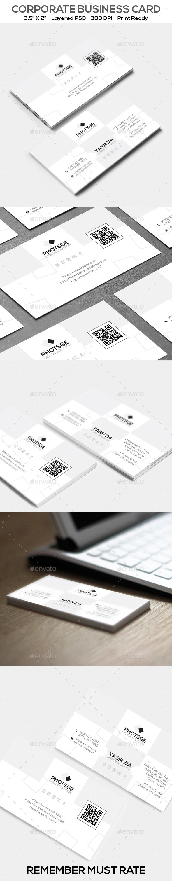 GraphicRiver Corporate Business Card 11222012