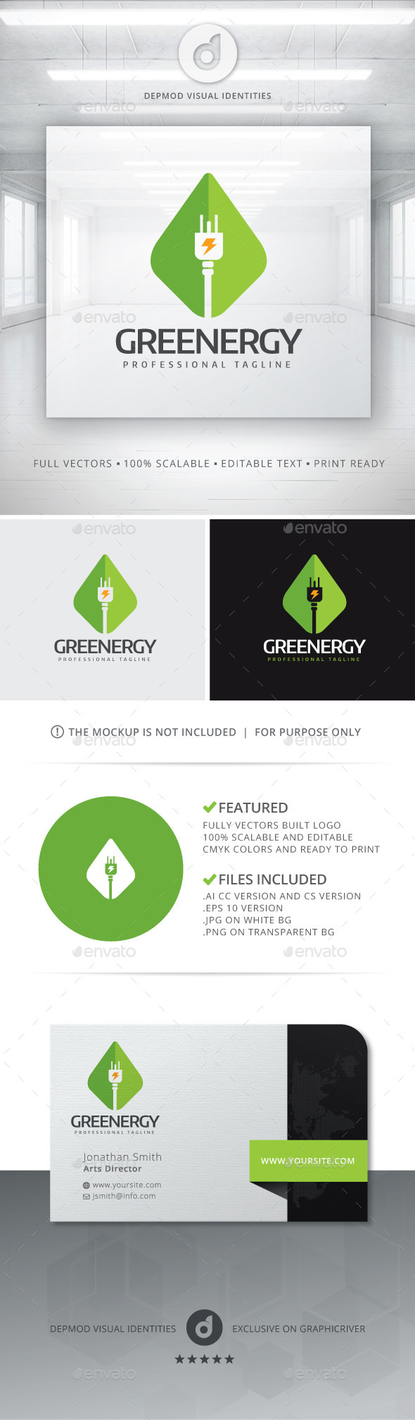 GraphicRiver Greenergy Logo 11239465