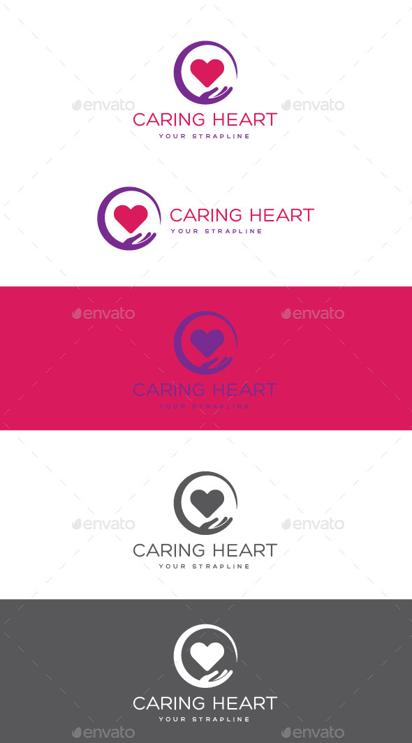 GraphicRiver Caring Heart Logo 11239468