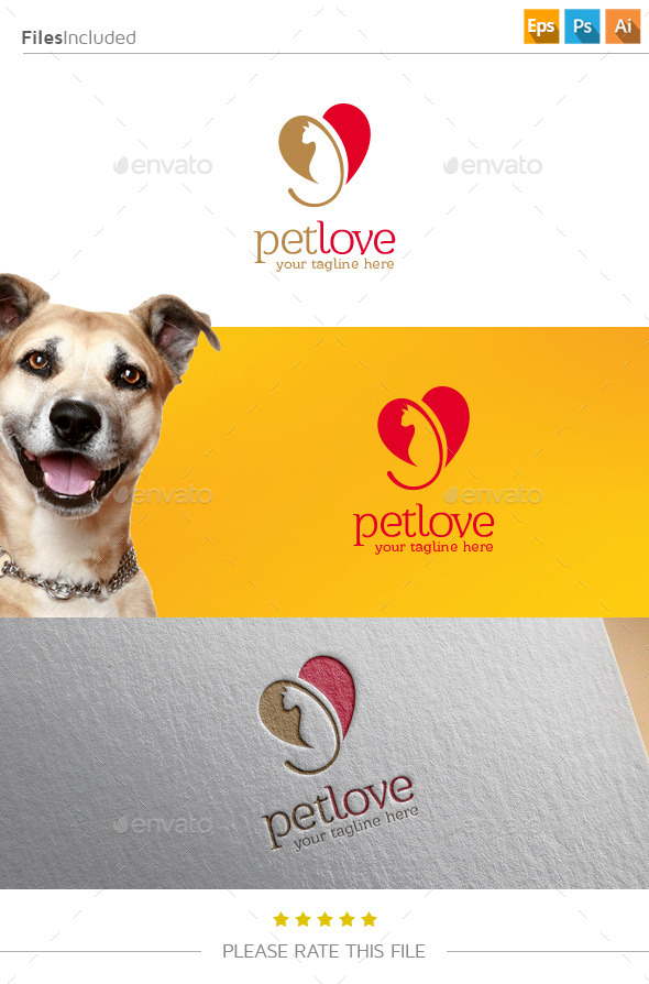 GraphicRiver Pet Love Logo 11239580