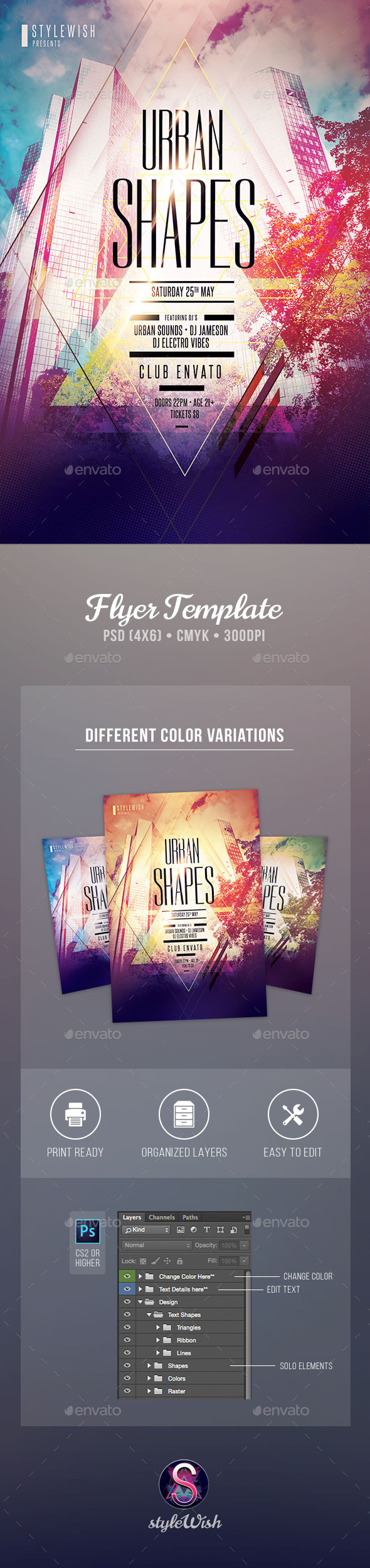 GraphicRiver Urban Shapes Flyer 11239797