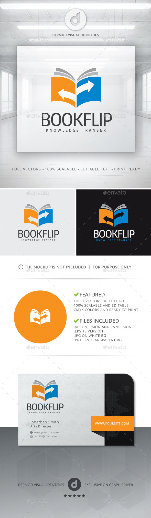 GraphicRiver Book Flip Logo 11239948