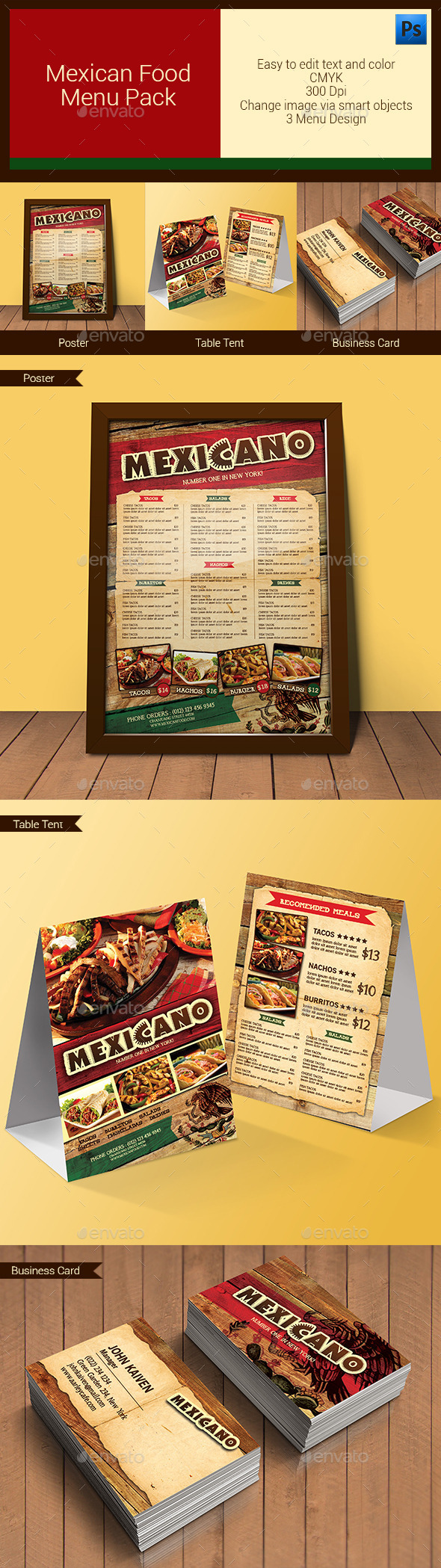 GraphicRiver Mexican Food Menu Pack 11204399