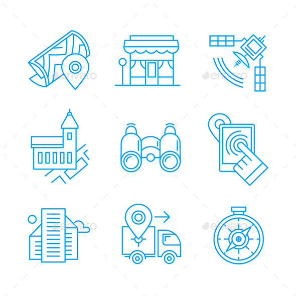 GraphicRiver Location Line Icons 11239978