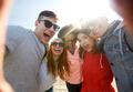 happy laughing friends taking selfie - PhotoDune Item for Sale