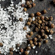 salt crystals and black peppercorns - PhotoDune Item for Sale