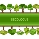 Ecology Background Design With Trees - GraphicRiver Item for Sale