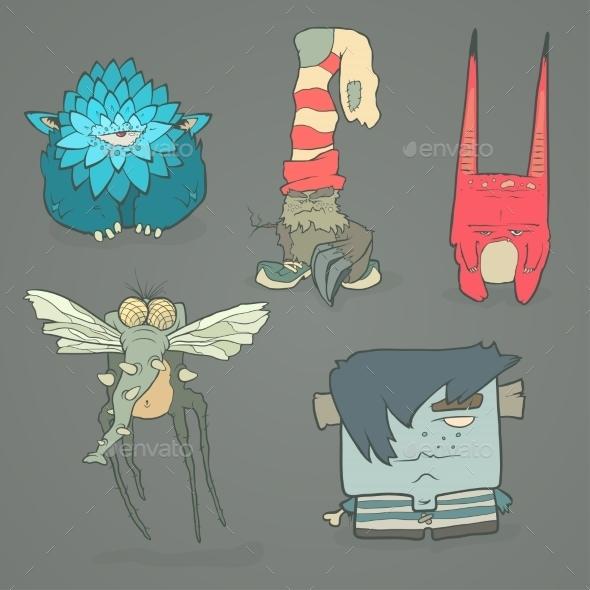 GraphicRiver Cartoon Monsters Set 11241264