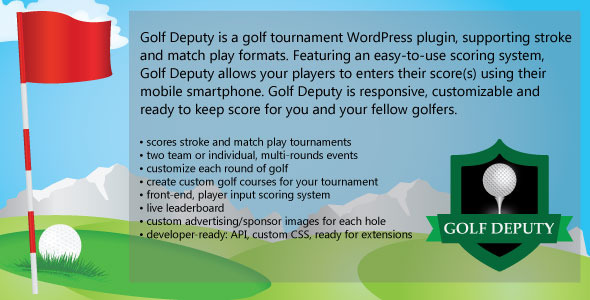 CodeCanyon Golf Deputy Golf Tournament Wordpress Plugin 11213212