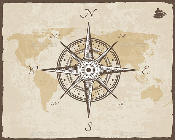 GraphicRiver Vintage Nautical Compass 11241297