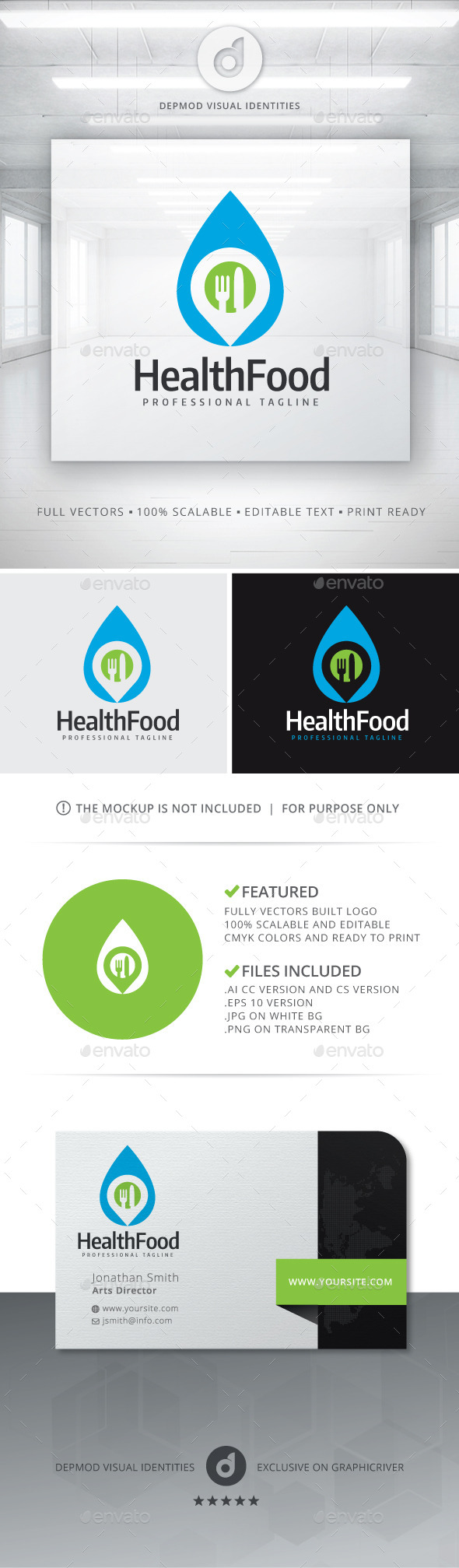 GraphicRiver Health Food Logo 11241303