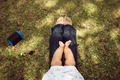 Little Baby Toddler Sitting On Mom Knees In Park - PhotoDune Item for Sale