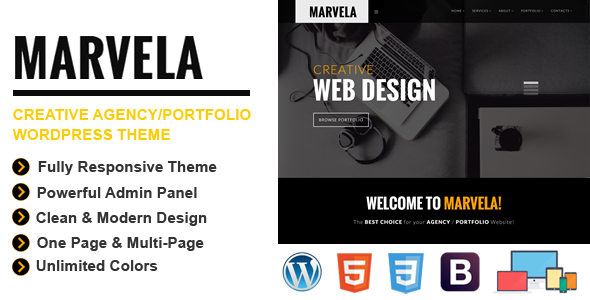 ThemeForest MARVELA Agency Portfolio Multi-Purpose WP Theme 11241351