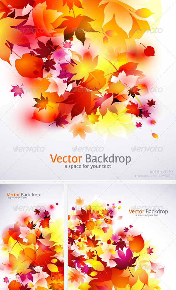 Autumn Backgrounds Pack - Seasons/Holidays Conceptual