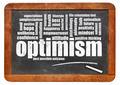 optimism word cloud on blackboard - PhotoDune Item for Sale