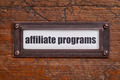 affiliate programs label - PhotoDune Item for Sale