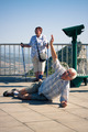 Hilarious senior man tourist on Gibraltar Rock - PhotoDune Item for Sale