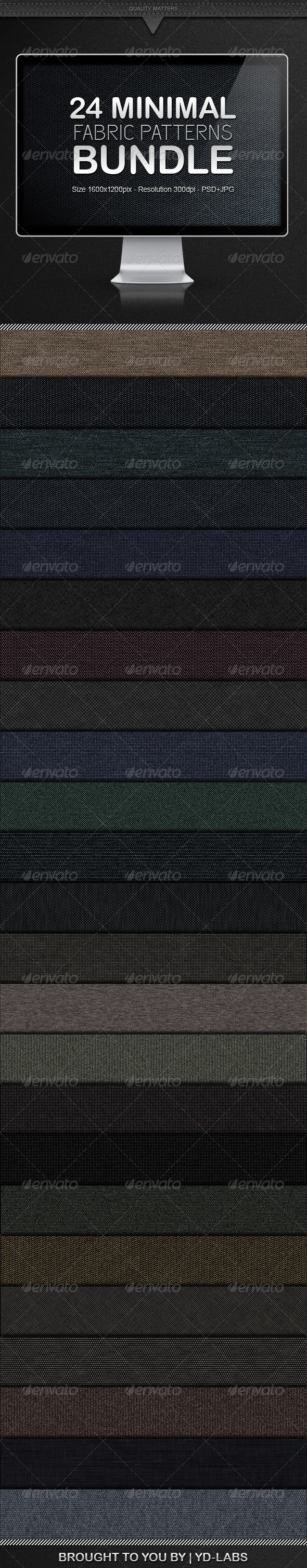 GraphicRiver 24 Minimal Fabric Patterns Bundle 1127241