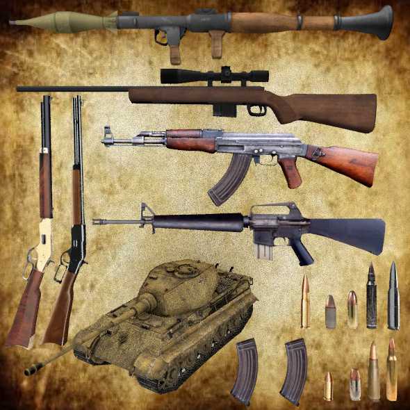 Weapon Collection  - 3DOcean Item for Sale
