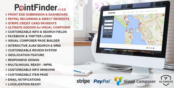 Directory Wordpress Theme - Point Finder