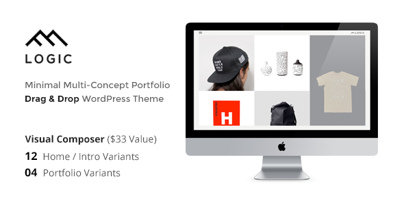 ThemeForest LOGIC Minimal Multi-Concept Portfolio WP Theme 11242016