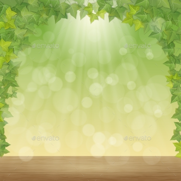 GraphicRiver Leaves and Sun Rays 11242147